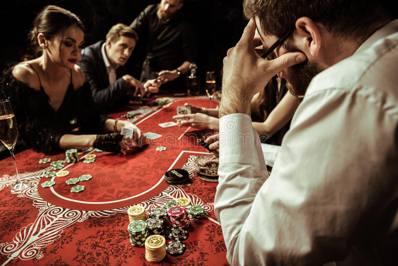 concentrated while gambling